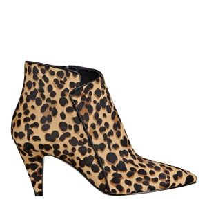 Nine West jet lag leopard pointed-toe booties 8